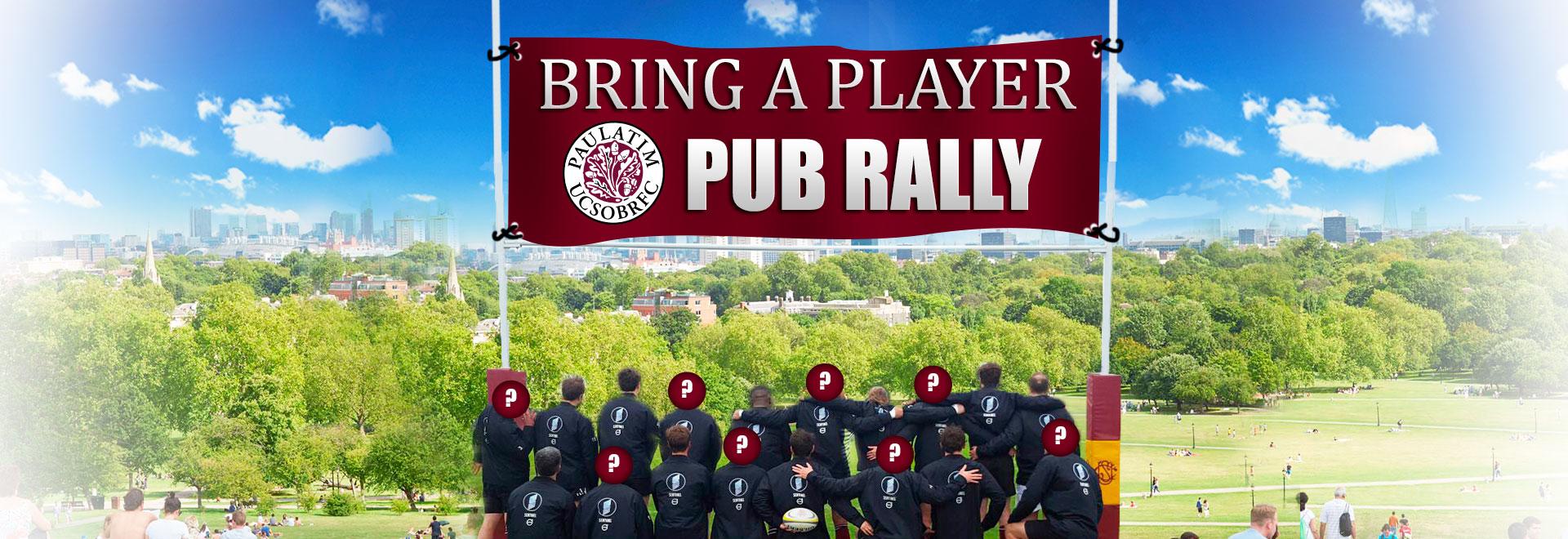 Primrose Hill Pub Rally 2017 UCSOBRFU, New Players Welcome